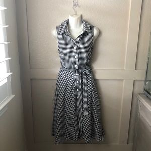 North Style- fully lined gingham dress.